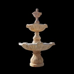 Marble Three Tier Fountain (Travertine)