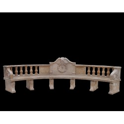 Marble Classical Bench with Reef Pattern