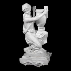 Marble Lady holding Urn Sculpture (Left)
