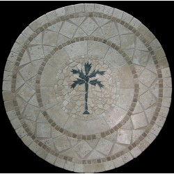 Palm Tree Mosaic Table Top