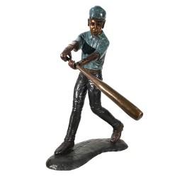 Bronze Baseball Batter Sculpture