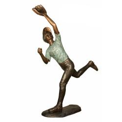 Bronze Baseball Catching Ball Sculpture