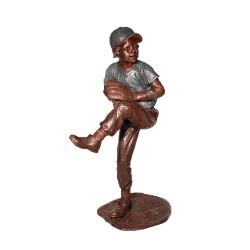 Bronze Baseball Pitcher Sculpture