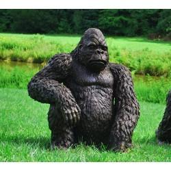 Bronze Sitting Gorilla Sculpture