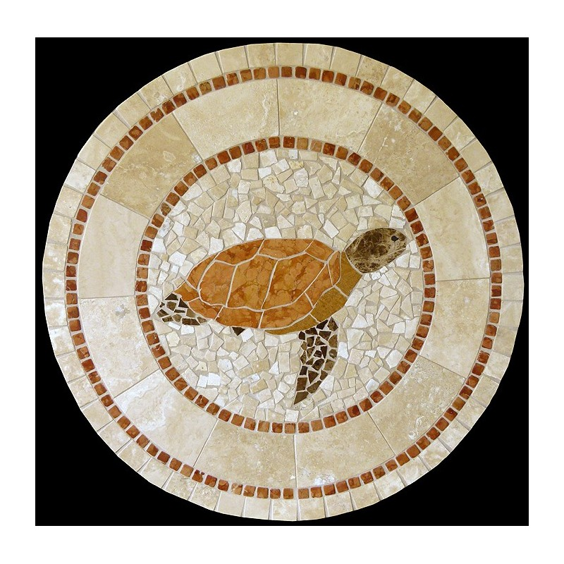 Turtle Mosaic Table Top
