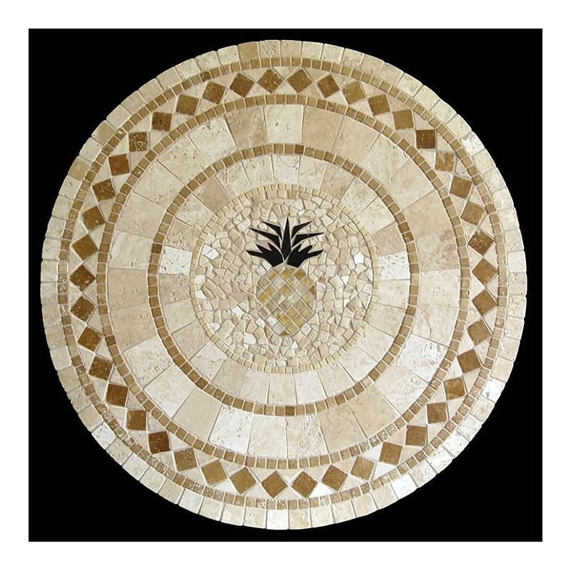 Pineapple Mosaic Table Top