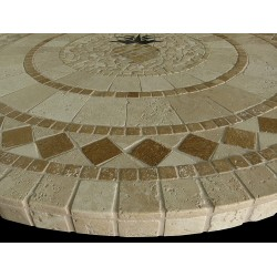 Pineapple Mosaic Table Top - Side View