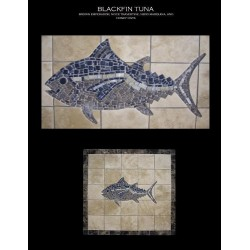 Black Fin Tuna Mosaic Table Top