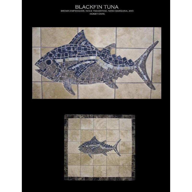 Black Fin Tuna Mosaic Table Top