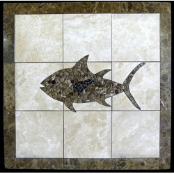 Tuna Mosaic Table Top