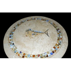 Mahi Mahi Multi Color Mosaic Table Top