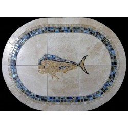 Mahi Mahi Blue Mosaic Table...