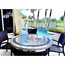 Pool Side Mosaic Table Top