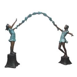 Bronze Arbor Girls Sculpture