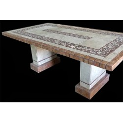 Claredon Mosaic Table Top - Shown with Optional Matching Pompeii Base Set
