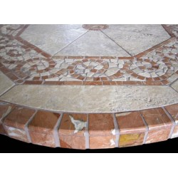 Claredon Mosaic Table Top - Side View