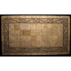 Ramses Stone Tile Dining Table - Top View