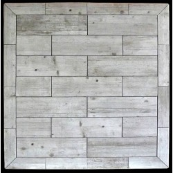 Vintage Stone Tile Dining Table - Top View