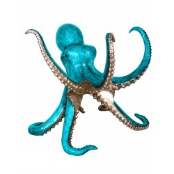 Bronze Caribbean Blue Octopus Sculpture (can be used as a dining table base)