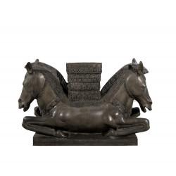Bronze Horse Head Coffee Table Base Sculpture