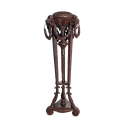 Bronze Rams Head Pedestal Stand