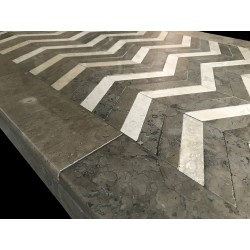 ZigZag Mosaic Table Top - Side View
