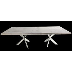 Vintage Rectangle Stone Tile Dining Table
