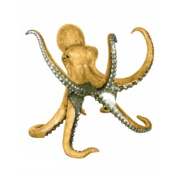 Bronze Gold Octopus Sculpture (can be used as dining base)