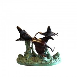 Bronze Sting Ray Dining Table Base Sculpture