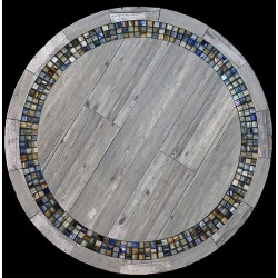 Vintage with Glass Mosaic Table Top