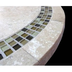 Alba Mosaic Table Top - Side View