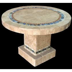 Devonaire Round Stone Tile Dining Table