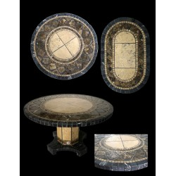 Black Moon Mosaic Table Top