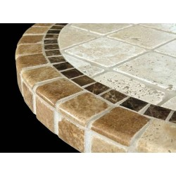 Key Largo Stone Tile Dining Table - Table Top Size View
