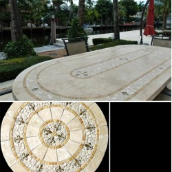 Liz Mosaic Table Top - Outside Setting