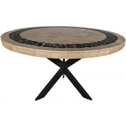 Pebble Creek Stone Tile Dining Table