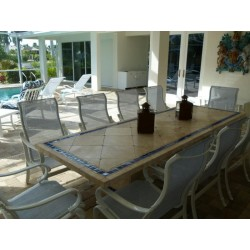 Azul Mosaic Dining Table