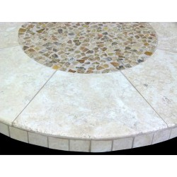 Amalia Mosaic Table Top - Side View