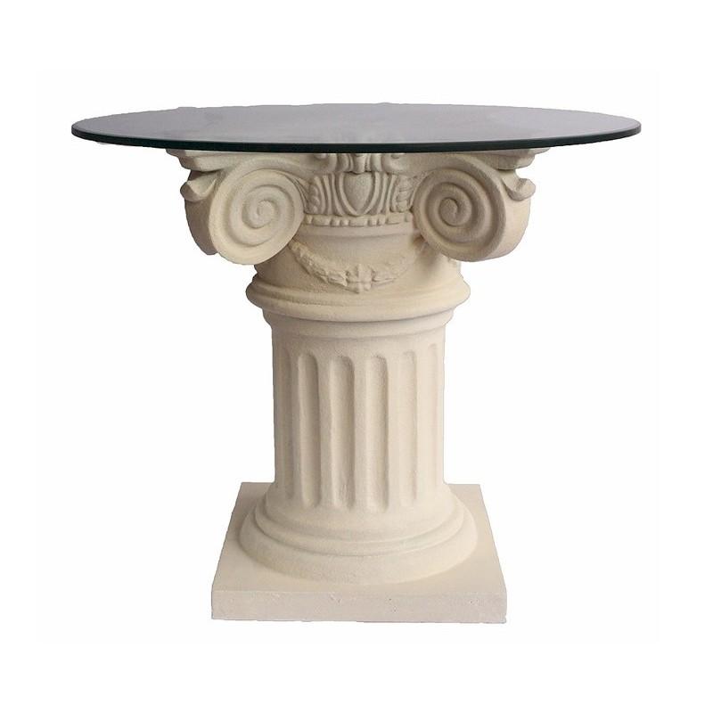 Roman Column Limestone Dining Table Base