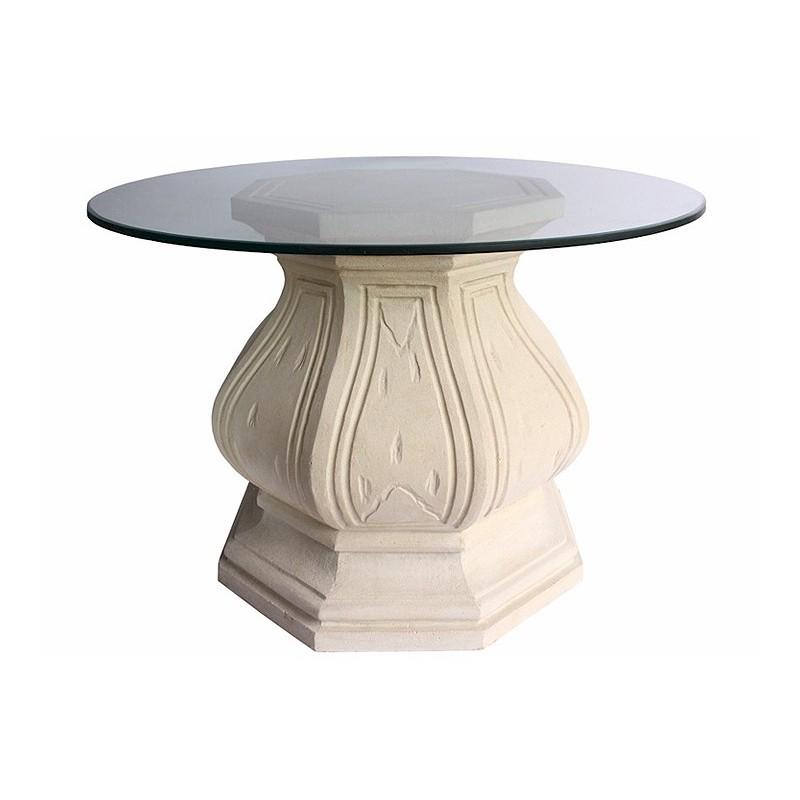 Octagonal Limestone Dining Table Base
