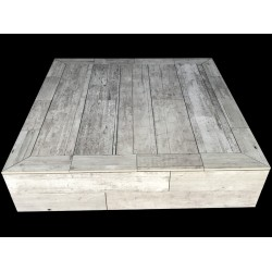 Vintage Porcelain Wood Look Tile Coffee Table