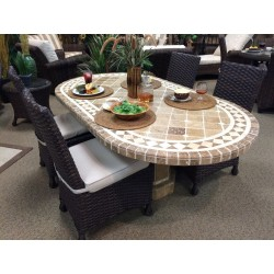 Belair Chocolate Mosaic Table Top