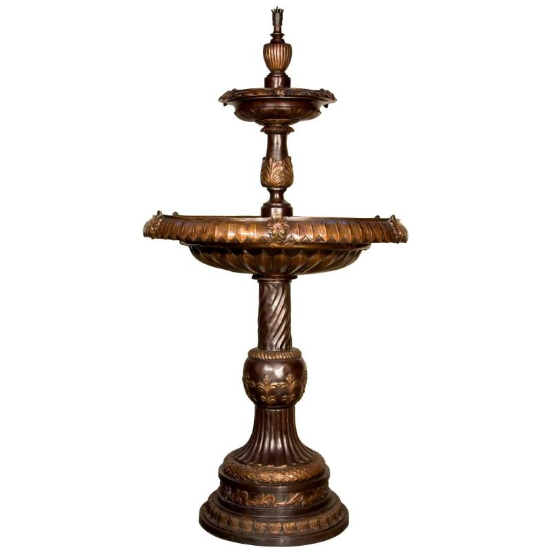 Bronze Classical Leaf Tier Fountain