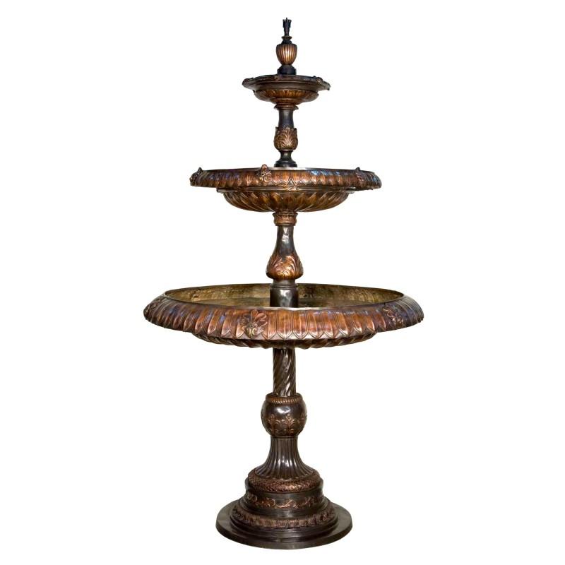 Bronze Classical Three Tier Fountain