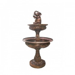 Bronze Elephant Tier Fountain