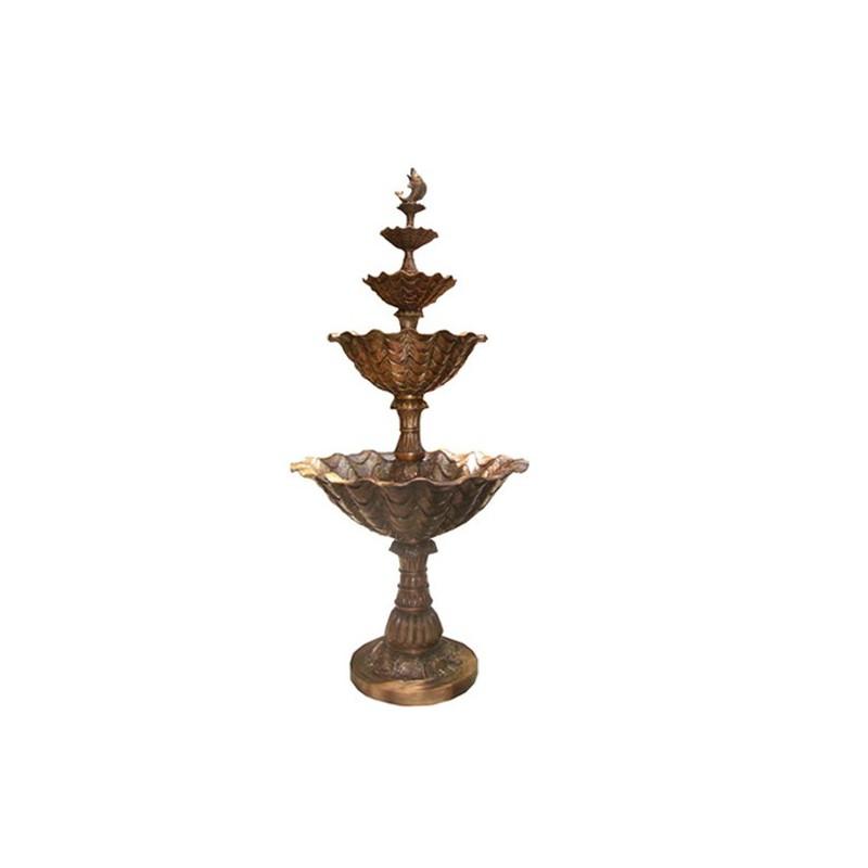 Bronze Fish Tier Fountain