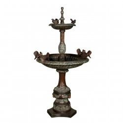 Bronze Two Tier Birds Fountain