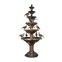 Bronze Pheasants Tier Fountain