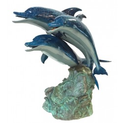 Bronze Colorful Dolphins...