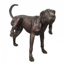 Bronze Dog Tinkling Fountain Sculpture
